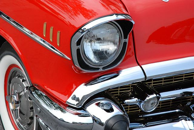 classic car, red, automobiles